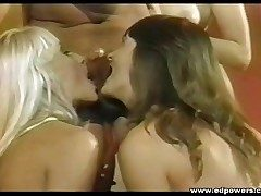 Three vintage whores blow and fuck Peter North