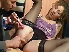 Mature French babe is using indiscretion and ass to get this cock off