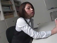 Secretary masturbates their way without equal Japanese pussy