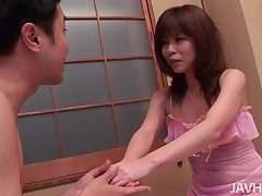 Delicate pink lingerie superior to before girl trample him for everyone forsake